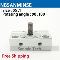 NBSANMINSE CRJB Mini Rotary Cylinder Pneumatic Compressed Mini Cylinder SMC Type For Automation System