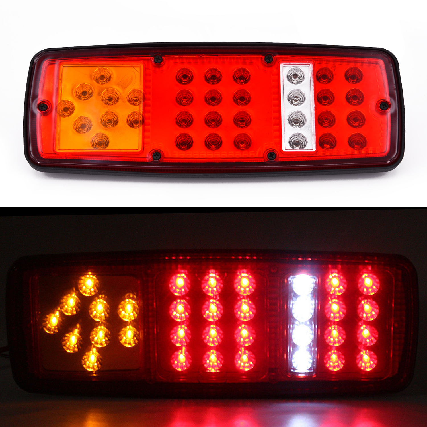 2x DC 12V Car Truck LED Rear Tail Light Warning Lights Rear Lamp for Trailer 33LED Lamp Kit Stop Indicator Waterproof in Truck Light System from Automobiles Motorcycles