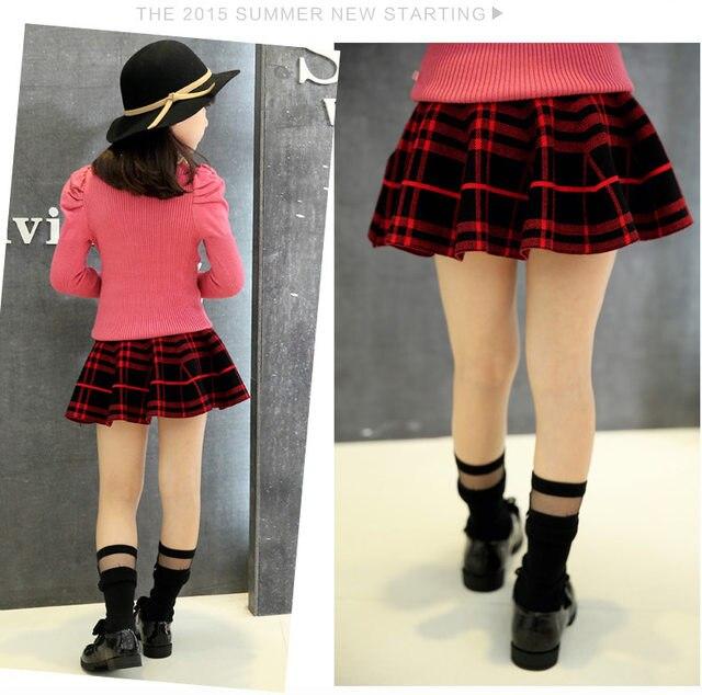 842ca50597 Online Shop Hot Korean Children New Girls Knit Pleated Backing Puff ...