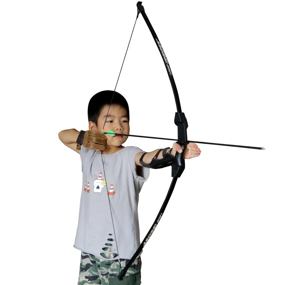 Enfants arc jeunesse arc en plastique enfants arc pour le jeu de tir à larc chasse en plein air