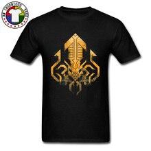 Vintage Golden Kraken Sigil T Shirt Game Of Thrones Battlefield Tshirts Summer Cool Tops Tees Cotton Print 3D Men Shirts