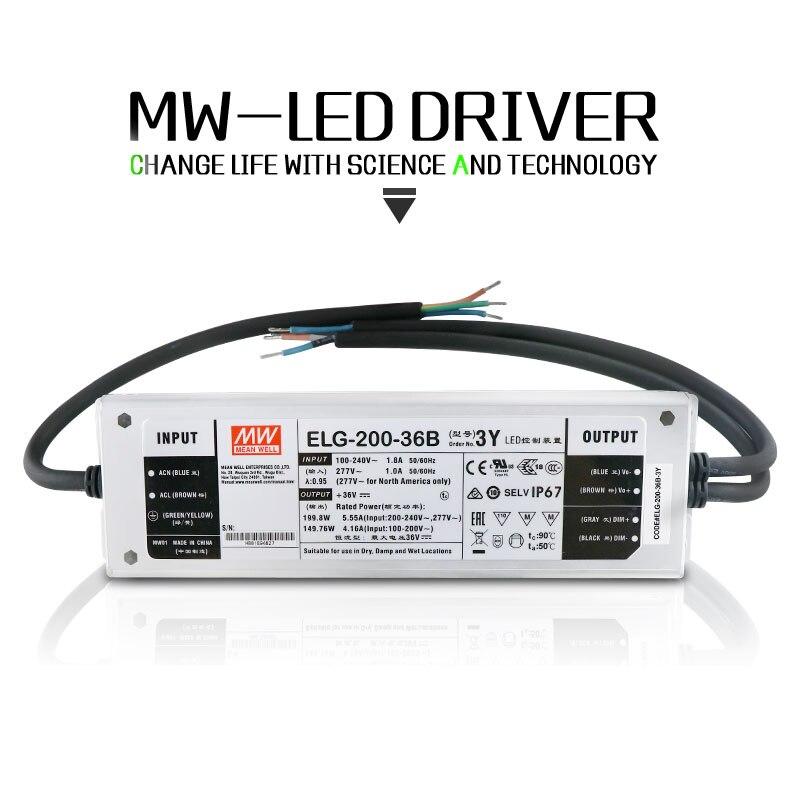 ELG-MeanWell затемнения светодио дный драйвера 75 Вт 100 Вт 150 Вт 200 Вт 250 Вт конвертировать AC 85-277 В к DC 26-36 В для светодио дный прожектор CREE светодио дн...
