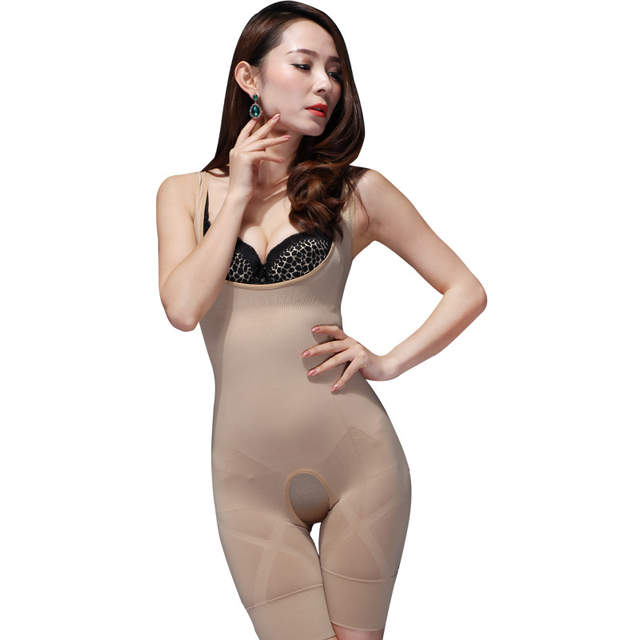 835931548fd6d Women s shapers Natural Bamboo Charcoal Invisible Magic Slimming Body Shaper  Bodysuits 1pcs