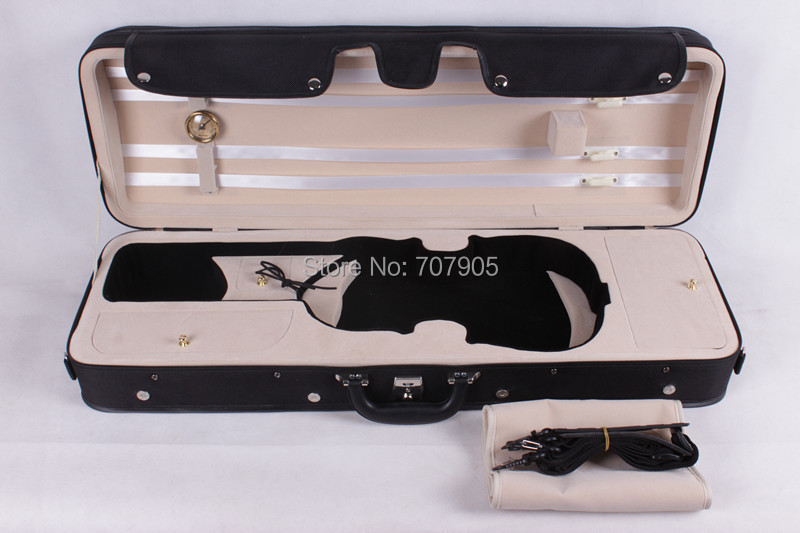 one new 4/4 Violin case   #DGF0021 Deluxe The high-grade violin box beautiful and durable lightweight shockproof handmade new solid maple wood brown acoustic violin violino 4 4 electric violin case bow included
