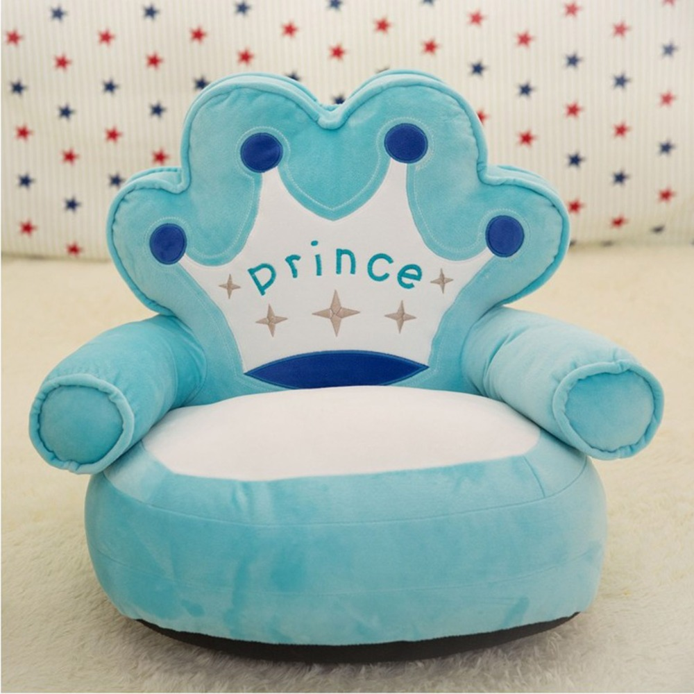 ed40adee9a0a ᗖOnly Cover No Filling Baby Bean Bag Cartoon Crown Seat Sofa Baby ...