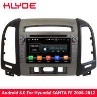 KLYDE 4G Android 8.0 Octa Core 4GB+32GB Car DVD Multimedia Player For Hyundai SANTA FE 3 Hole 2006 2007 2008 2009 2010 2011 2012