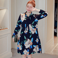 2017 New Spring Plus Size XXL Elegant Embroidered Chiffon Maternity Clothes Casual Dress Pregnant Clothes/Wear Pregnancy Women