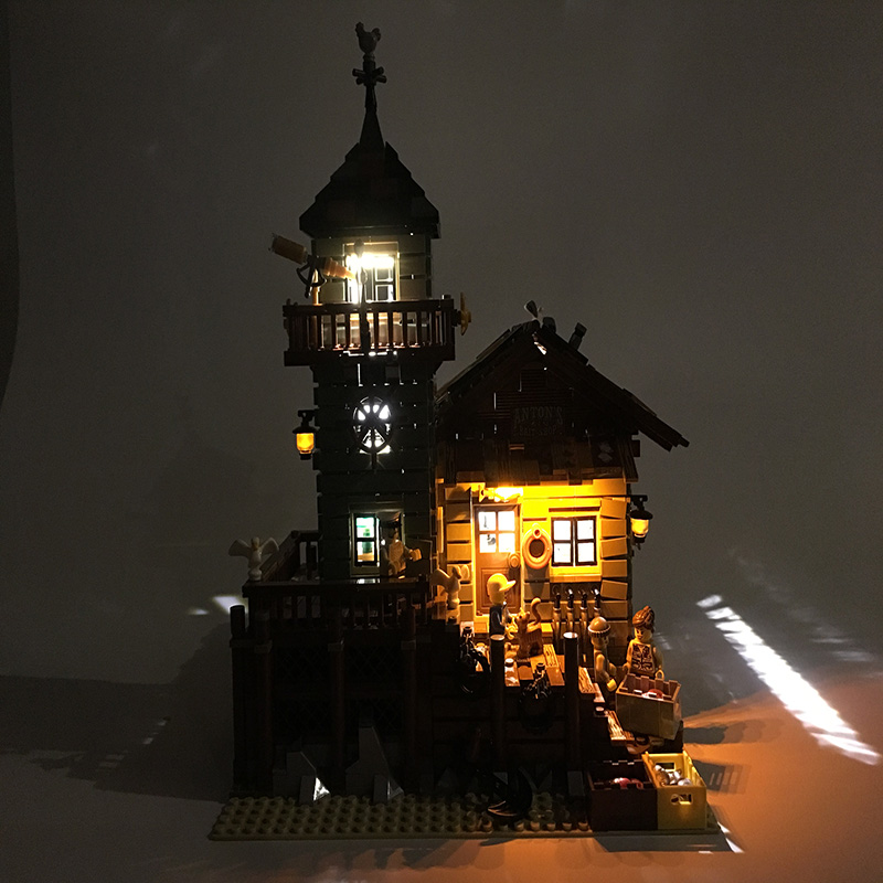 LED set para construcción LEGO Ciudad calle 21310 para 16050 edad Tienda de pesca juguetes creador City Street iluminación conjunto