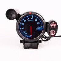 Defi 3.75 Inch 80mm 7 Colors 0 11000 RPM Stepper Motor Tachometer RPM Gauge with Shift Light for Auto Car