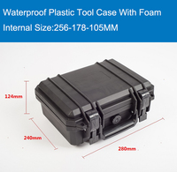 Waterproof Hard Case With Foam For Camera Video Equipment Carrying Case Black ABS Plastic Sealed Safety