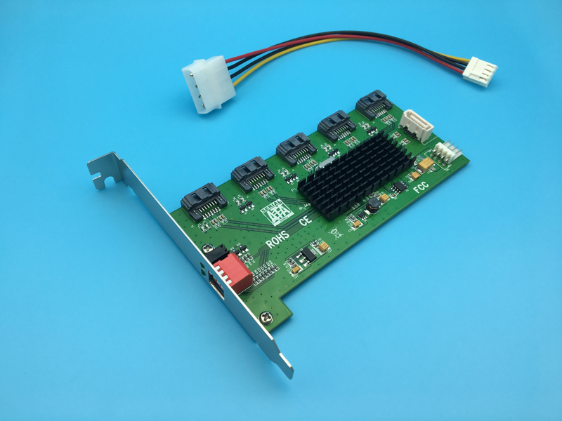 5 Port SATA II Port Multiplier RAID 0 / 1 / 3 / 5 / 1+0 Card Hard Disk Accelerator Card