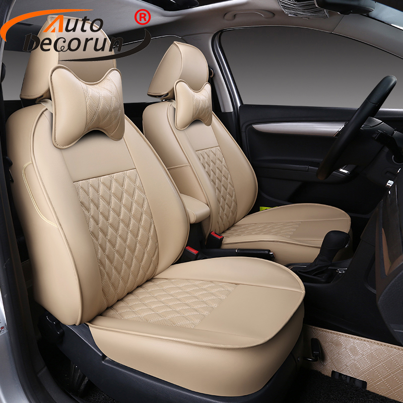 AutoDecorun covers seat for Fiat Linea car seat cover sets accessories PU leather car seat cushion supports covers auto styling