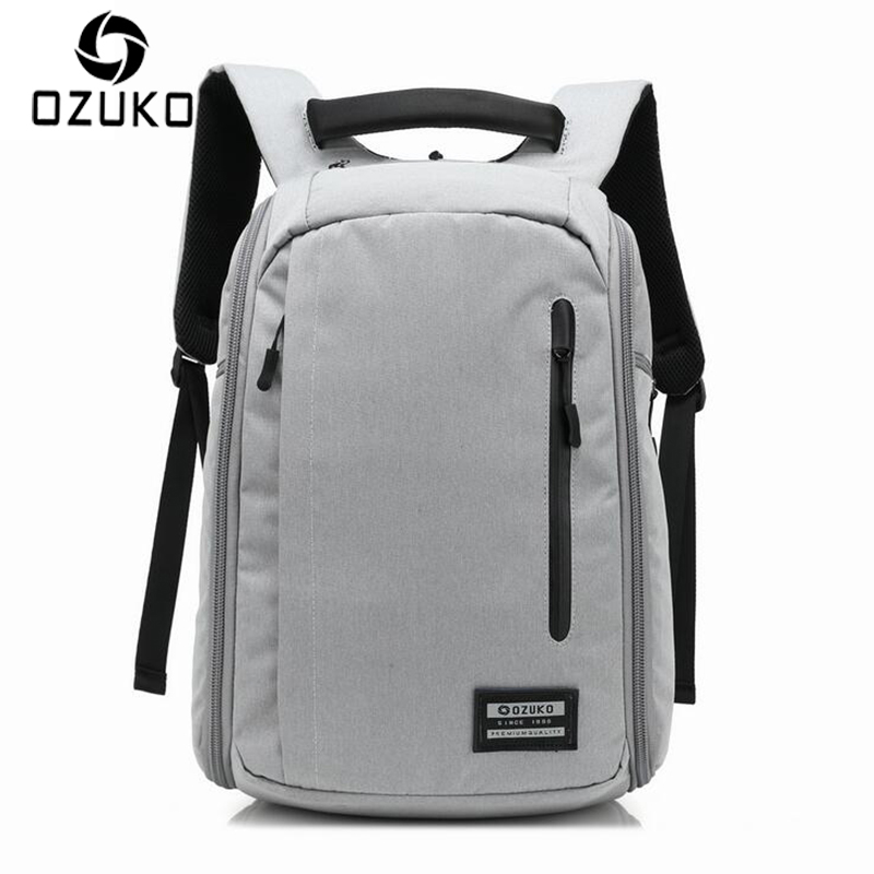 OZUKO Brand Design 2017 New Fashion Men Anti-thief Backpacks Waterproof Laptop Mochila Casual Travel Packsack Student School Bag foru design 600d fashion backpack brand design school book bag polyester bag men computer packsack swiss outsports backpacks