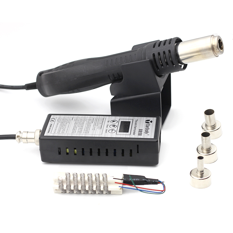 Image 2 - Hot Air Gun 8858 Desoldering Soldering Rework SMD Solder Station  220V Heat Gun For Welding Repair Tools With Ceramic Heater-in Heat Guns from Tools
