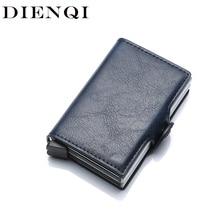 DIENQI Top Quality Wallets for Men Short Rfid Card Wallet Money Bag Mini Purse Male Aluminium Small Wallet Men Thin Vallet Walet