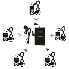1 Transmitter+5 Receivers Microphone Wireless Tour Guide System T131 for Guiding Simultaneou Interpretation Meeting Church