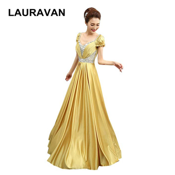 cheap simple elegant modest a line gold red blue special occasion formal girls prom gowns unique 2020 dress long gown