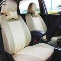 2 asientos delanteros Universal cubierta de asiento de coche para Citroen c2 c3 c4 c5 de drenaje accesorios etiqueta engomada del coche