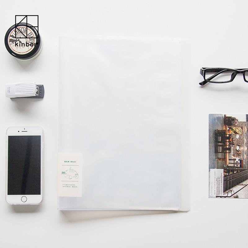 無印良品スタイルa4プラスチック透明ファイルフォルダクリアブック多機能ドキュメントフォル(China