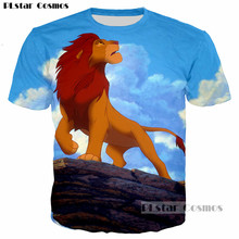 PLstar Cosmos Cartoon The Lion King Animal Cute Simba Men/Women 3D T-shirt Print Boys T shirt Summer Tops Tees Camisetas Hombre