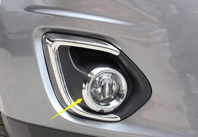 Top sale For Mitsubishi ASX 2013 car head front inner fog light lamp detector frame stick styling ABS cover trims 2pcs