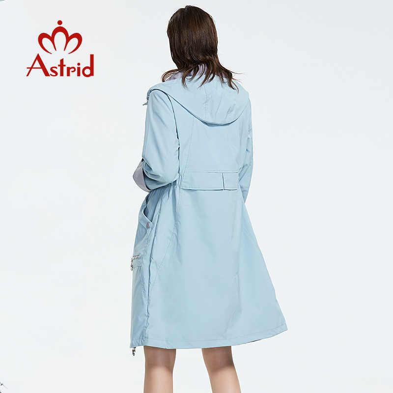 Astrid 2019 ใหม่แฟชั่น PLUS ขนาดกลางความยาว Trench Coat ฤดูใบไม้ผลิ-ฤดูใบไม้ร่วง-สี windproof ผู้หญิง JAC AS-1992