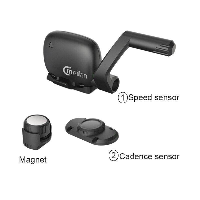 Velocímetro inalámbrico de bicicleta Meilan M4 y S1 luces traseras tacómetro Monitor de ritmo cardíaco Sensor de velocidad de cadencia cronómetro impermeable - 5