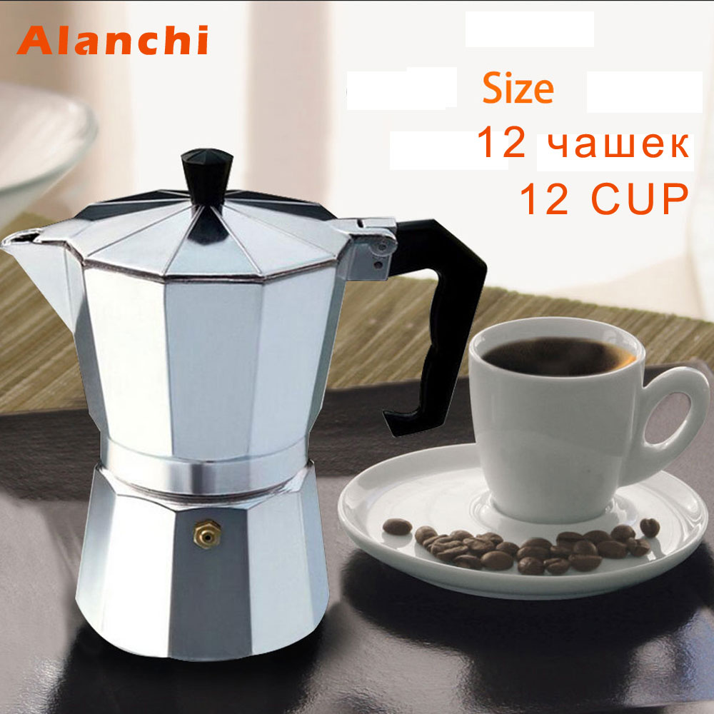 Moka máquina de café espresso/alumínio 1cup/3cup/6cup/9cup/12cup fogão italiano topo/percolador pot ferramenta dropshipping