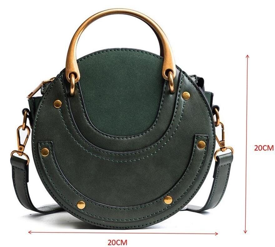 Luxury Handbags Women Bag Designer Women Totes Circular Leather ... 0ebf167cad3c8