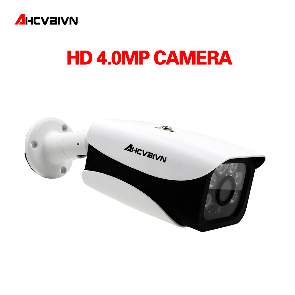 AHCVBIVN Super AHD Camera HD 4MP Surveillance Outdoor Indoor Waterproof 6* Array infrared Security Camera System With Bracket