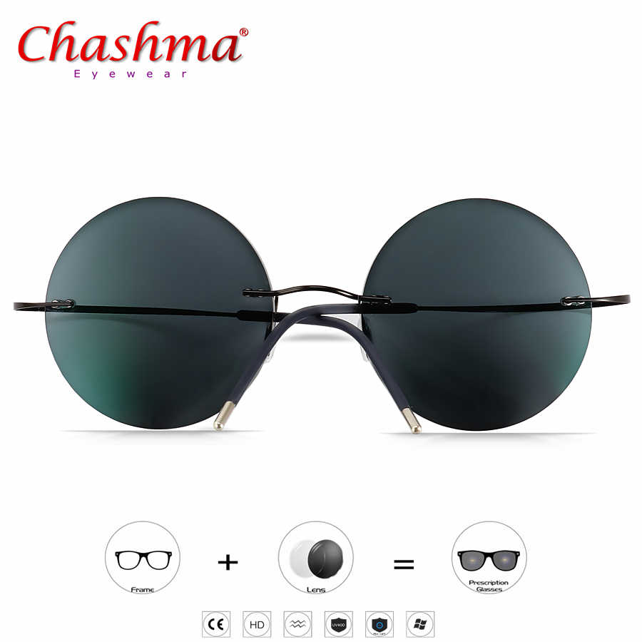 Myopia Sunglasses Photochromic Reading Glasses Women Ultralight  Round Korean Glasses Frame Men Titanium Screwless Eyewear