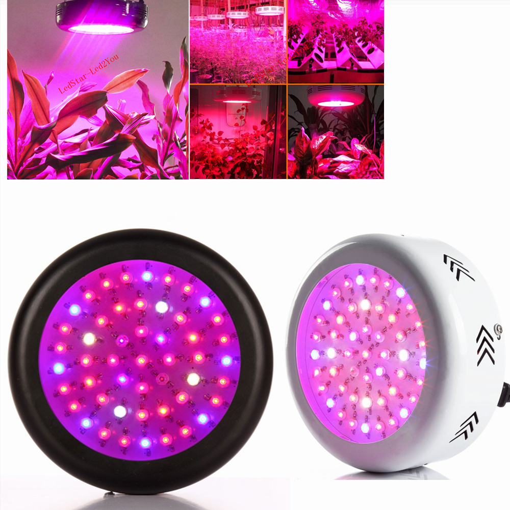 Full Spectrum 150W UFO LED Plants Grow Light Bulb 50X3W Led Chip Tent Plant Indoor Growing