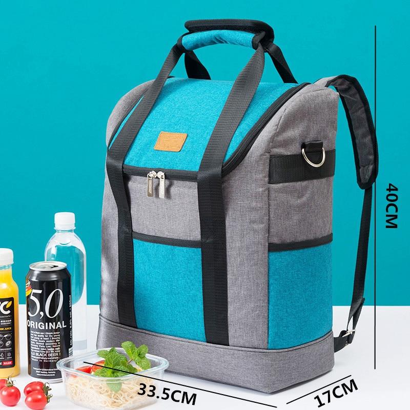 Bagaj ve Çantalar'ten Beslenme Çantaları'de Yeni Moda Evrensel Oxford Bez Omuz Büyük Kapasiteli Öğle Yemeği Çantası Yalıtım Soğutma Çantası Piknik yemek kabı Taze Meyve Depolama'da  Grup 2
