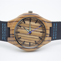 2016 Newest Zebra Wooden Watches For Groomsmen Birthday Gifts With Fashion Box For Husband