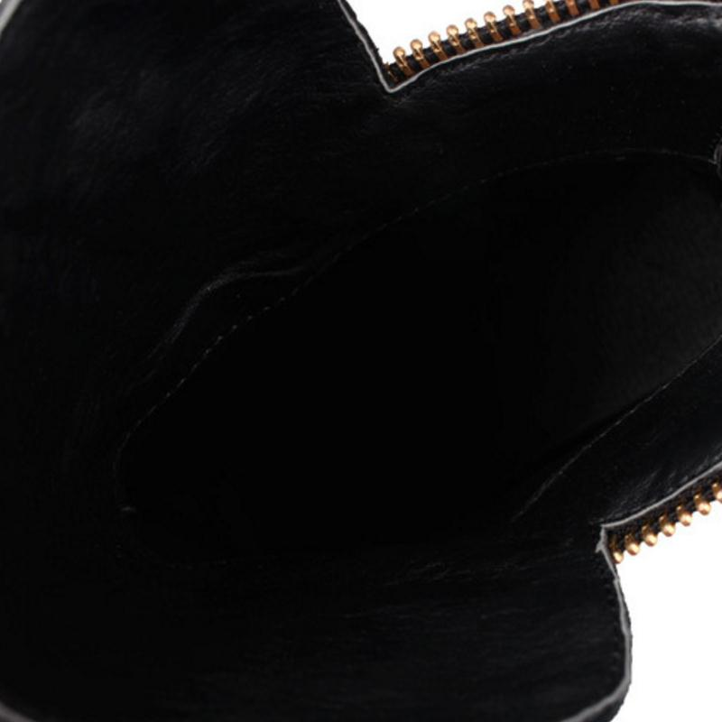 Bottes Noir 43 Chaud Pour 32 Red Hauteur Femmes En Marque Chaussures Taille Cheville Zipper Cuir Kaizikarzi Croissante Fleur Véritable Botas D'hiver wine QxordCeWBE
