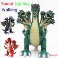 Kostenloser Versand High tech Sieben köpfe Dinosaurier Spielzeug Jurassic welt elektrische dinosaurier spielzeug Tyrannosaurus rex kunststoff dinosaurier modell|electric dinosaur|head dinosaurelectrical dinosaur toy -