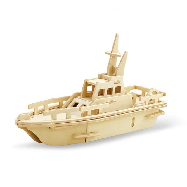 3D Wood Vehicle Puzzle