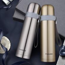 Frasco de 2015 Frascos de Vacío termo botella de agua de oro Hombre termo para el coche oficina taza de acero inoxidable botella térmica termo tazas