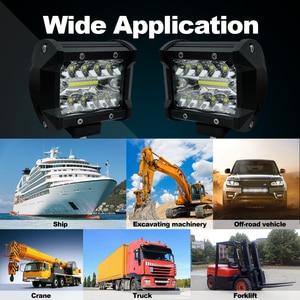 Image 5 - 車ledライトバー 18 ワットのスポットライト 36 ワット 60 ワット 72 ワット 120 ワット 300 ワット 12 12v用 24 オフロード 4WDトラックトラクターsuv 4 × 4 アクセサリー 6000 18k