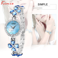 Luxury Brand Kimio Bracelet Watch Stainless Steel Women Crystal Watch Elegant Star Crystal Diamond Watch for Lady Clover