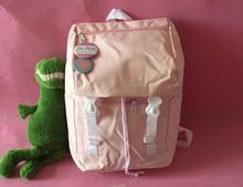 Японский Стиль мягкой сестра женщины рюкзак корейский стиль простой сплошной Drawstring Засов дорожная сумка Harajuku школьный для студентов