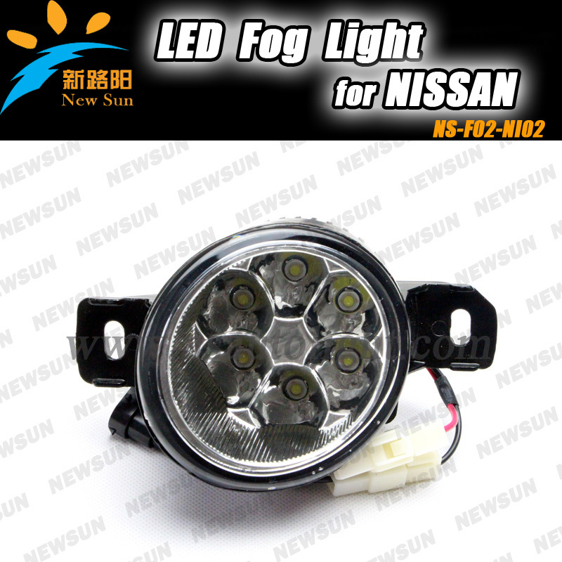 Super bright LED Fog lamp for NISSAN LIVINA, MARCH, TEANA, QASHQAI, NEW SYLPHY, NEW SUNNY, RENAULT Koleos OEM Auto fog light teana fog light 2pcs set led sylphy daytime light free ship livina fog light