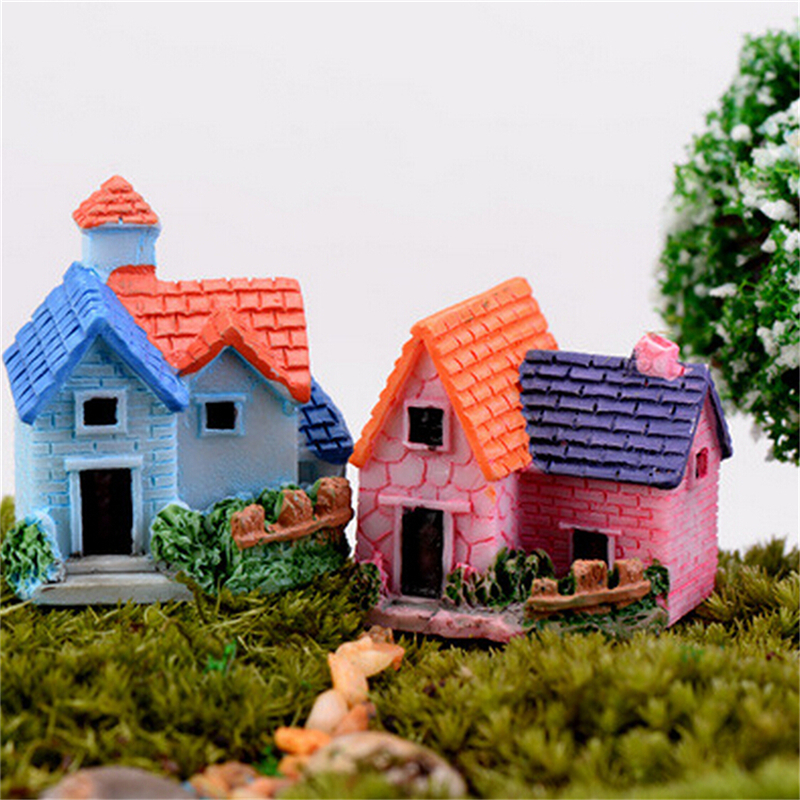 DIY Miniature Fairy Garden Craft Resin House Micro Landscape Decor-^