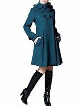 new women's woolen coat Korean version was thin in the long section of the college wind cloak shawl coat large size windbreaker недорого