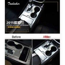 Tonlinker 2 шт. DIY Тюнинг автомобилей из нержавеющей стали в механизм управления вставками чехол Наклейки для Nissan Murano 2015 Аксессуары