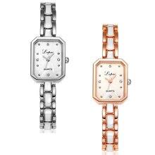 Women's Watch Stainless Steel Ladies Watch Simple Square Bracelet Analog Quartz Wrist Watches Travel Gift