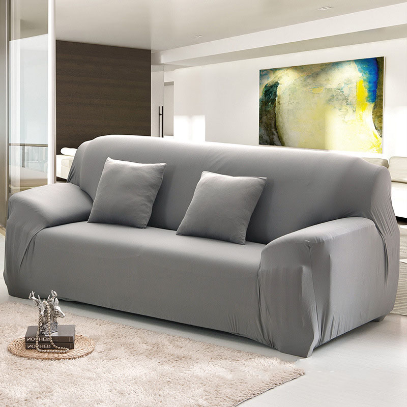 Sofa Cover Slipcover 1 2 3 4 Seat Single Two Three Four Seater Stretch Solid 10colors Funda Couch Capa De In From Home