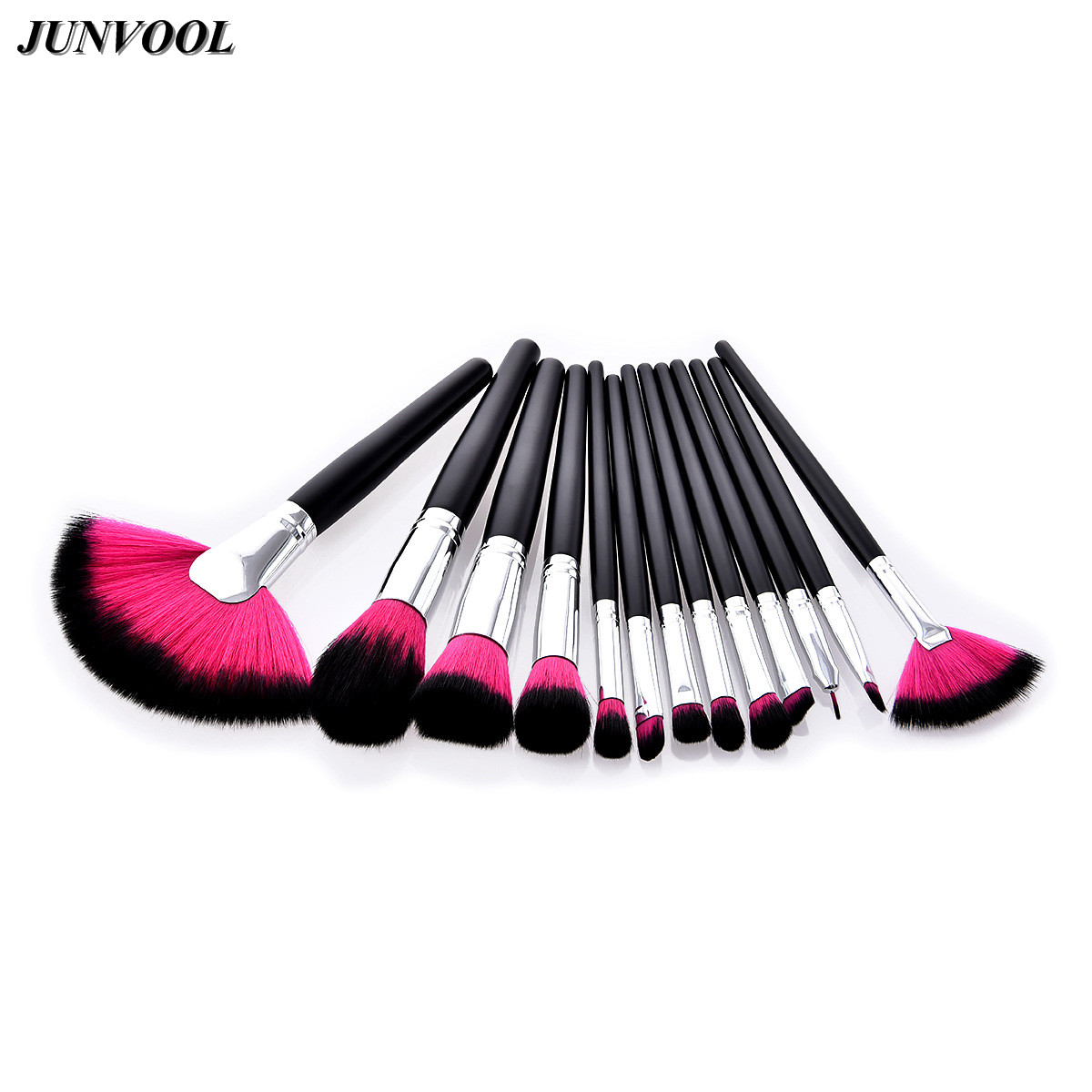 Cosmetic Fan Makeup Brush 13pcs Pro Eyebrow Foundation Powder Eyeshadow Eyeliner Lip Concealer Eyelash Blending Brushes Set Kit new 32 pcs makeup brush set powder foundation eyeshadow eyeliner lip cosmetic brushes kit beauty tools fm88