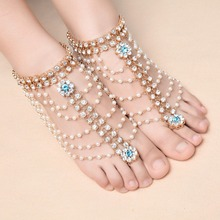Fashion Ankle Bracelet Wedding Barefoot Sandals Beach Foot Jewelry Sexy Pie Leg Chain Female Boho Crystal Anklet XR-066