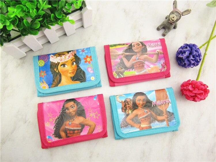 12pcs Oceana Moana Coin Purse Cute Kids Cartoon Wallet Bag Pouch Children Purse Small Wallet Party Gift